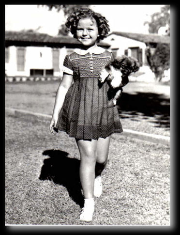 Shirley Temple and her dog Ching Ching a peke in Palm Springs CA 12-10-1936